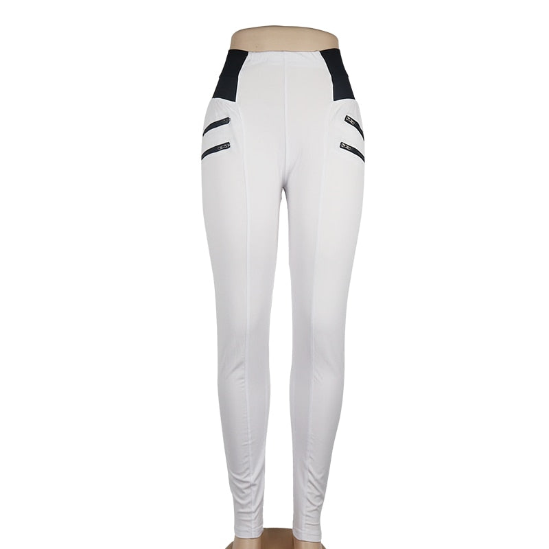 LEISURE HIGH WAIST GYM ZIPPER LEGGINGS FOR FITNESS