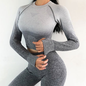 SPORTS WOMAN ROUND NECK LONG SLEEVE