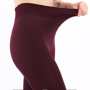 Women's High Waist Thick Velvet Legging
