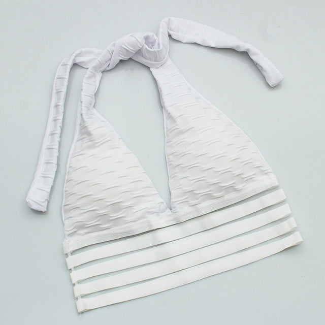 WOMEN'S BRA WITH FOLDS AND CROP
