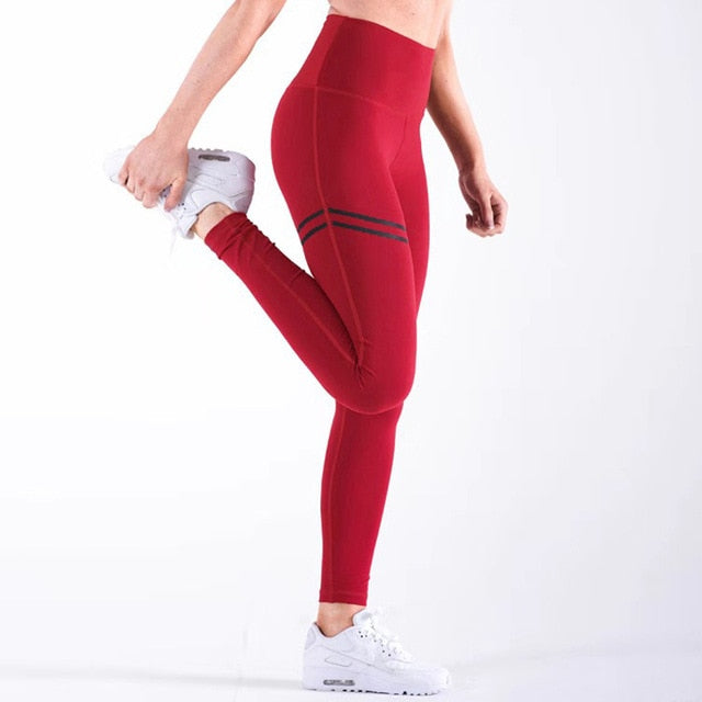 HIGH-WASTED POLYESTER PUSH-UP LEGGING