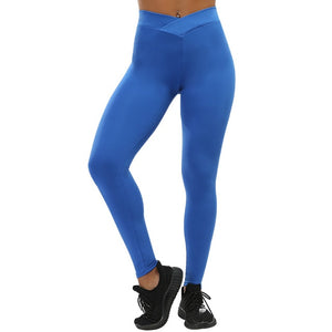 V-NECK LEGGINGS IN POLYESTER