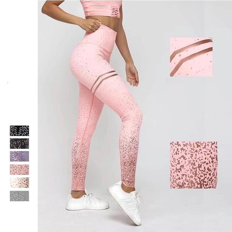 TRANSPARENT METALLIC PRINT LEGGING