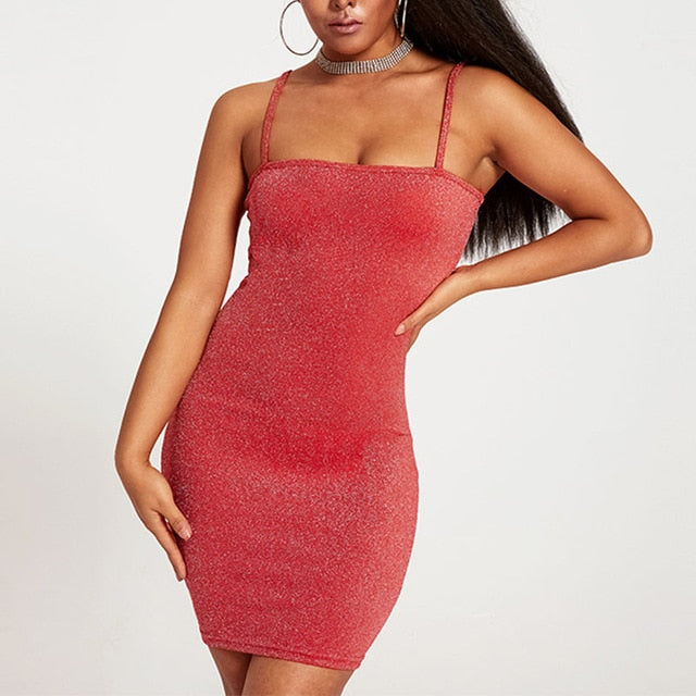 WOMEN'S SLIM DISCO SEXY MINI DRESS