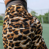 SEXY PUSH UP LEOPARD PRINT LEGGING