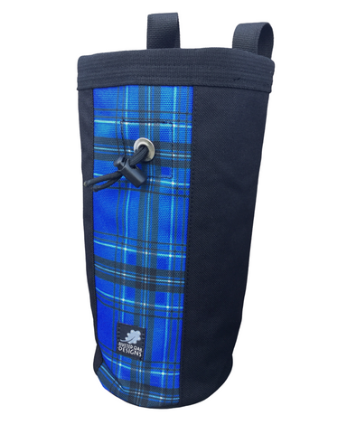 Blue Plaid Industrial Chalk Bag - 10""