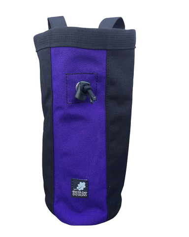 Purple & Black Industrial Chalk Bag - 10""