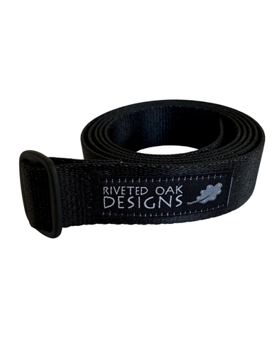 "1"" Black Webbing Belt"