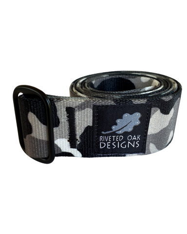 "CLOSEOUT - Single Slide 1.5"" Urban Camouflage Webbing Belt"