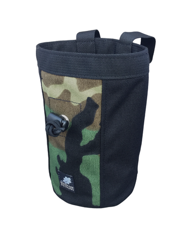 Woodland Camouflage Industrial Chalk Bag Mini - 7""