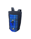 Blue Plaid Industrial Chalk Bag Mini - 7""