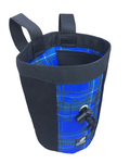 "Industrial Chalk Bag Mini - 7"" - Blue Plaid"