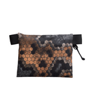 "Gray & Orange Hexcam X-Pac VX-15 Zipper Pouch - 3.5""x4.5"""