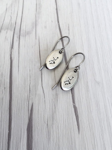 Virgo Zodiak Steel Earrings