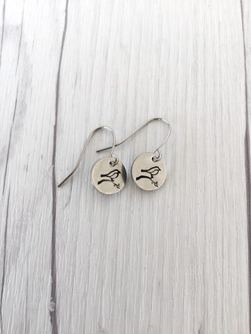Bird & Branch Steel  Earrings - Riveted Oak Designs