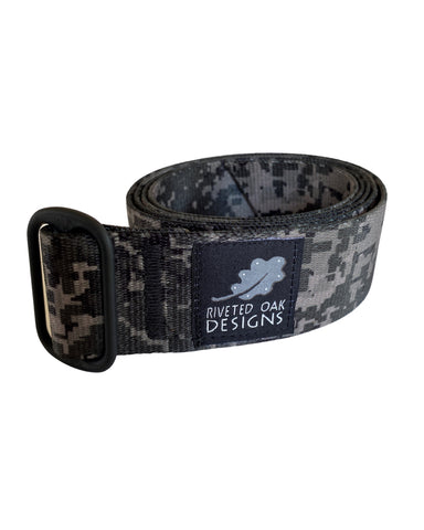 "CLEARANCE - Digital Camo Webbing Belt -  2"" Camouflage Hiking Belt - Backpacking Belt - Bushcraft Belt - EDC Belt - Hiking Gear"