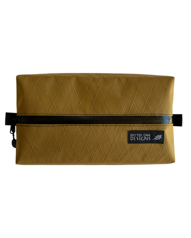 "Coyote Brown 9""x5""x2"" Box Pouch - Ultralight Pouch - Zipper Pouch - VX21 X-Pac Pouch - Ultralight Backpacking Gear - Brown Box Pouch"