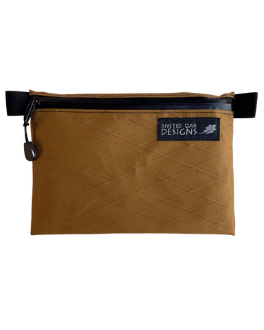 "5""x7"" Coyote Brown Ultralight Zipper Pouch - VX21 X-Pac Pouch - Ultralight Backpacking Gear - EDC Pouch - Hiking Pouch - Trail Wallet"