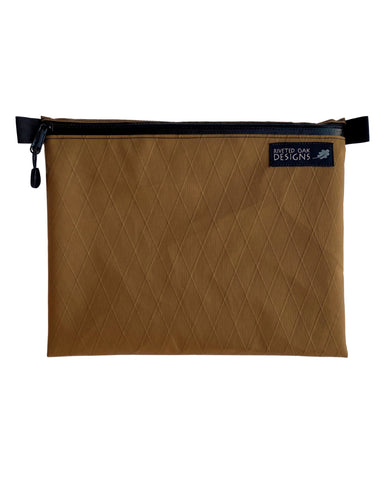 "8""x10"" Coyote Brown Ultralight X-Pac Zipper Pouch - VX21 X-Pac Pouch - Ultralight Backpacking Gear - EDC Pouch - Hiking Pouch"