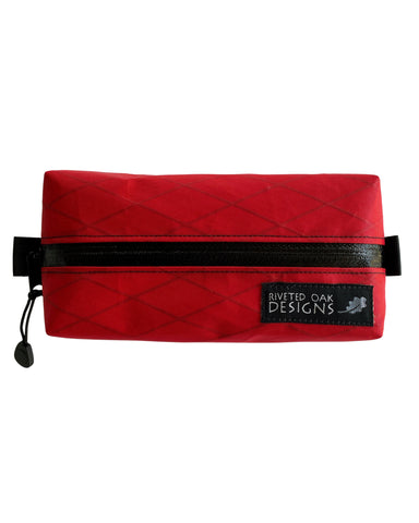 "Ultralight Pouch Red - 6""x3""x2"" Box Pouch - VX21 X-Pac Pouch - Ultralight Backpacking Gear - Hiking Pouch - Possibles Pouch"