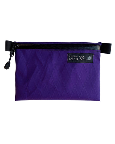 "5""x7"" Purple Ultralight Zipper Pouch - VX21 X-Pac Pouch - Ultralight Backpacking Gear - EDC Pouch - Hiking Pouch - First Aid Kit Pouch"