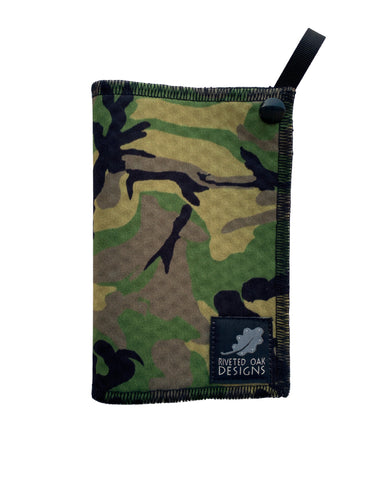 Hiking Hanky Weekender Green Camouflage - Handkerchief Wipe - Pee Rag - Reusable Wipe - Backcountry Bandana - Pee Cloth - Peedanana