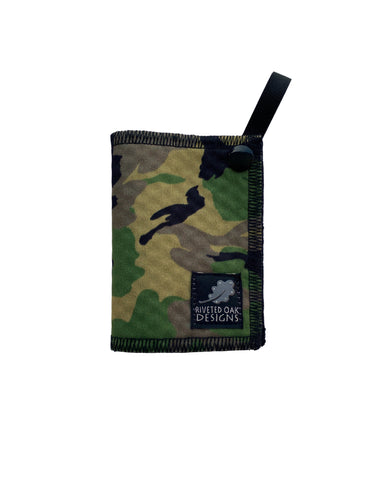 Mini Hiking Hanky Weekender Green Camouflage - Handkerchief Wipe - Pee Rag - Reusable Wipe - Backcountry Bandana - Pee Cloth