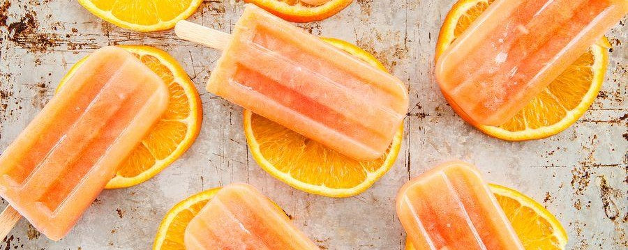 ZERO Orange & Cherry Ice lollies