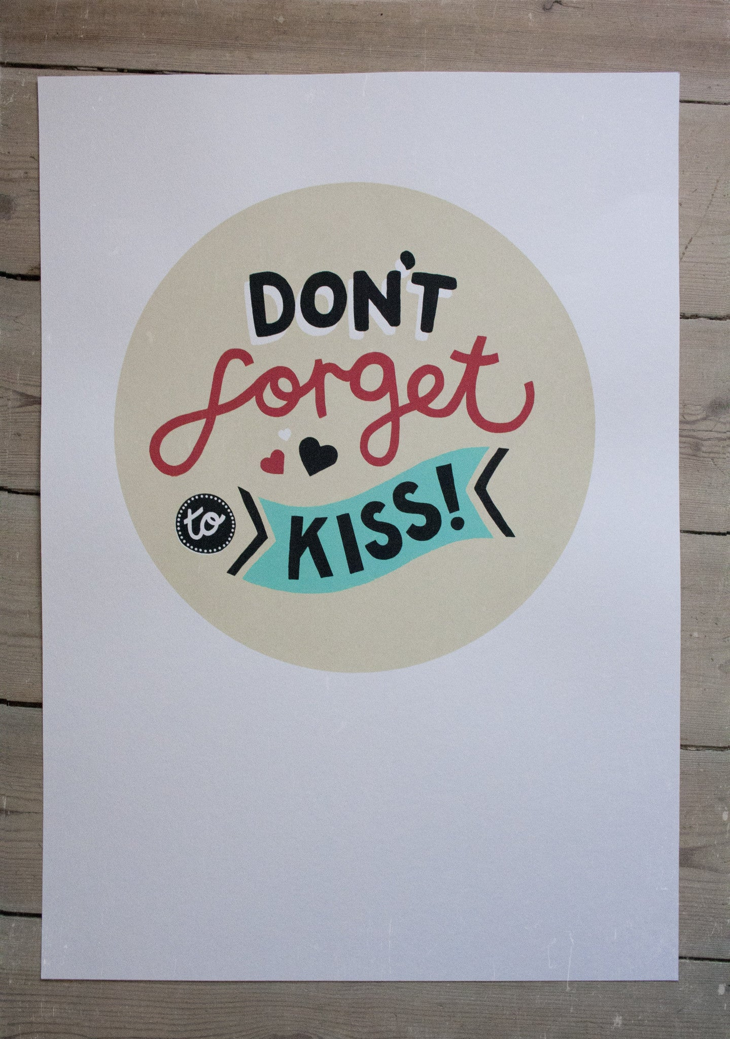 Don't Forget To Kiss -  Screen Print, 2. sortering