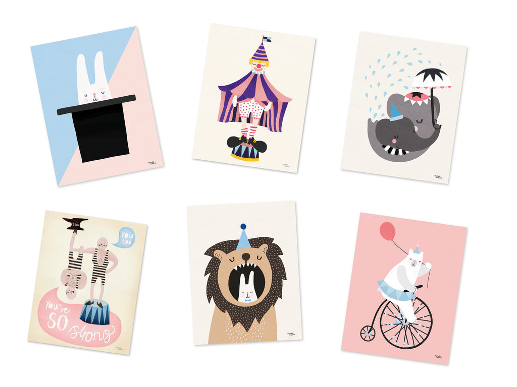 Circus Pack - 6 cards A5 size