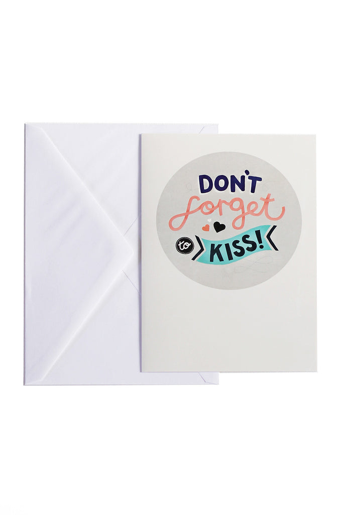 Don't Forget To Kiss - card