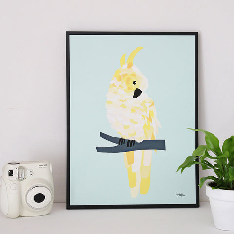 Yellow Cockatoo - poster