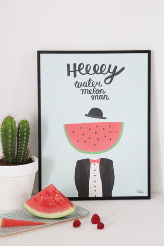 Water Melon Man -  Poster