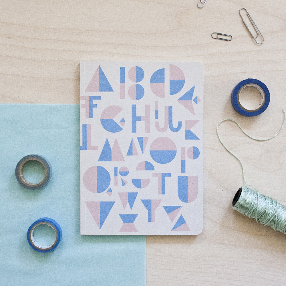 Alphabet Rosa/Blue Notebook