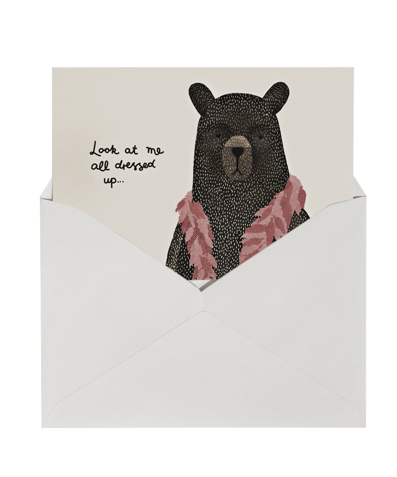 Bear Dress Up Boa - card