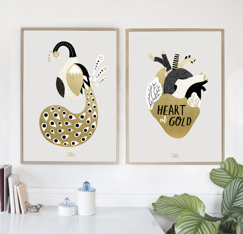Gold Peacock - poster