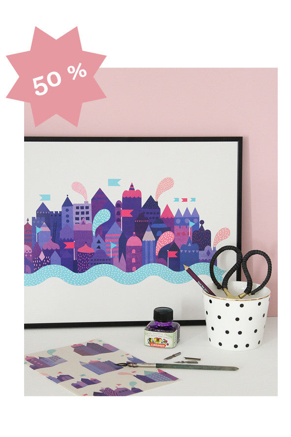 SALE - Purple City - poster