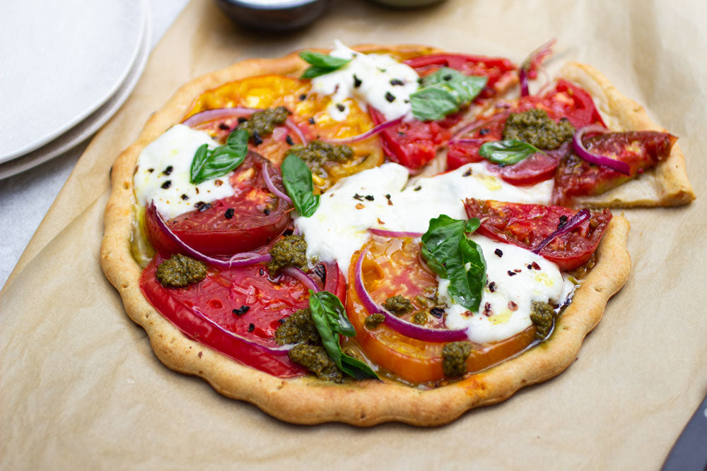Burrata + Tomato Grain-Free Pizza