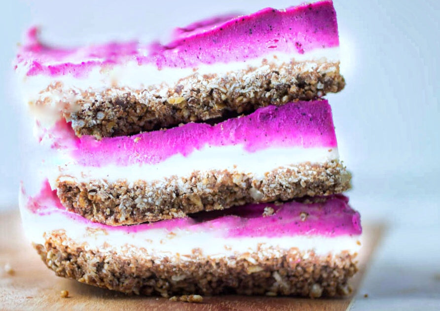 Influencer Recipe Series: Pitaya Cheesecake Bars