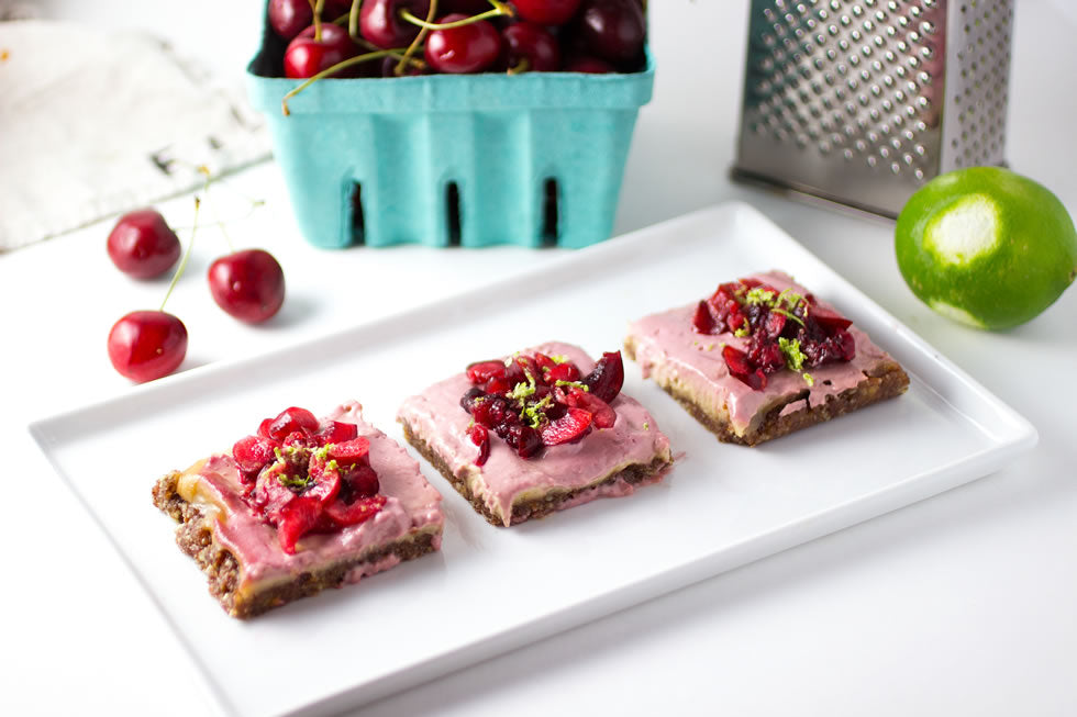 Cherry Lime Cheesecake Bars for Your Labor Day Dessert