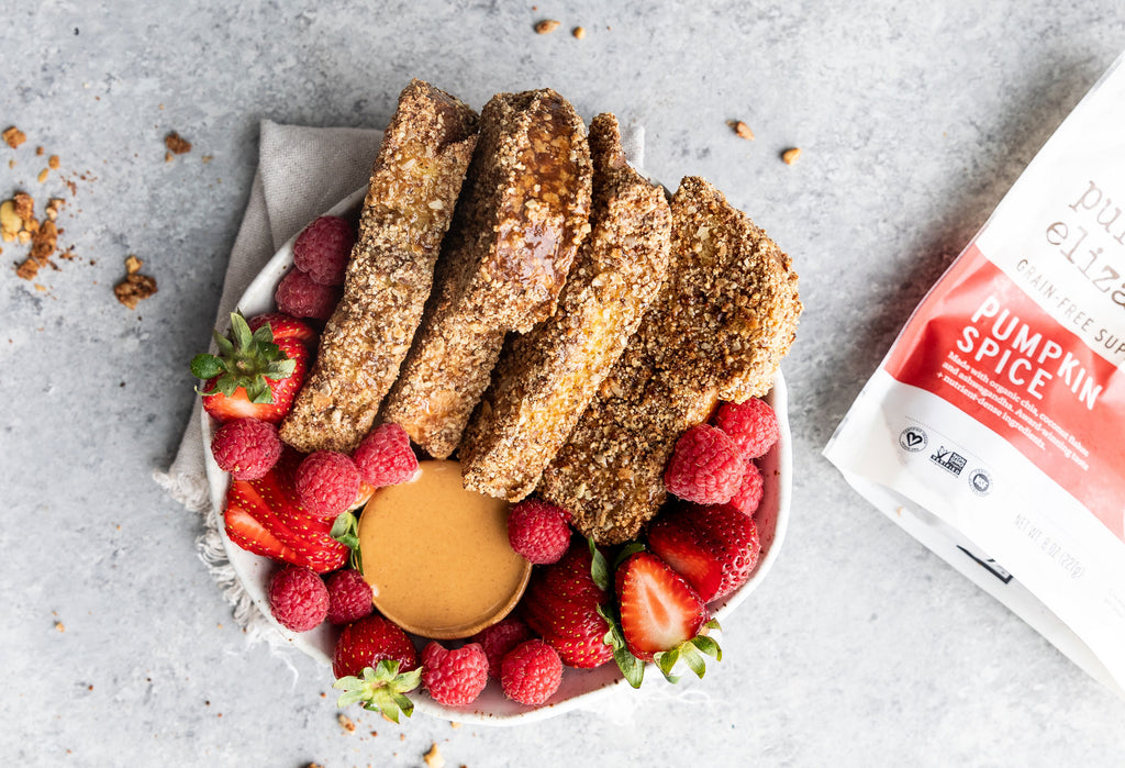 Pumpkin Spice Baked French Toast Sticks