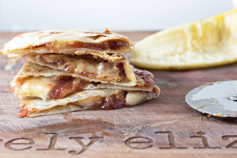 Nut Butter + Jam Banana Quesadilla
