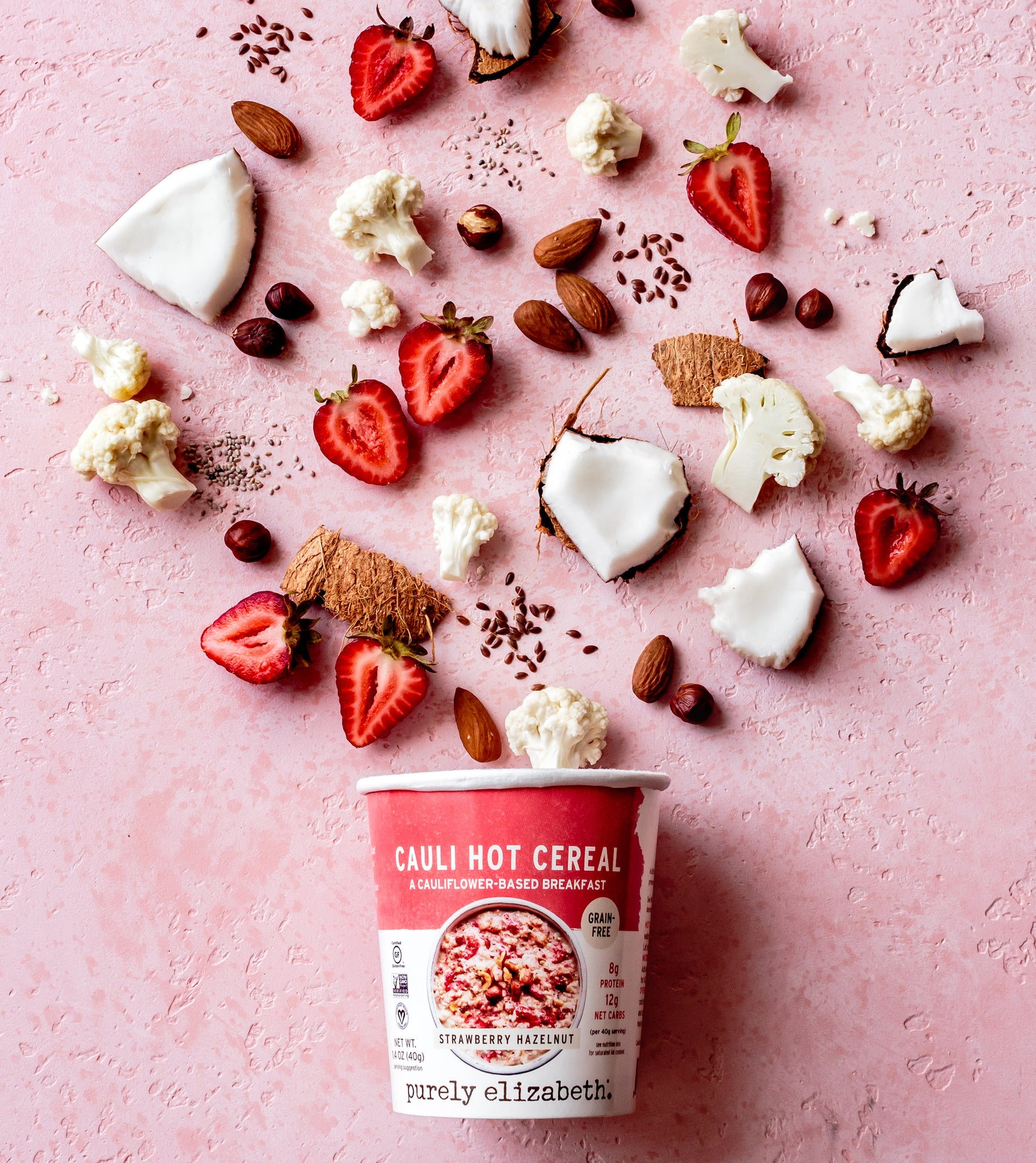 Strawberry Hazelnut Cauli Hot Cereal Cup