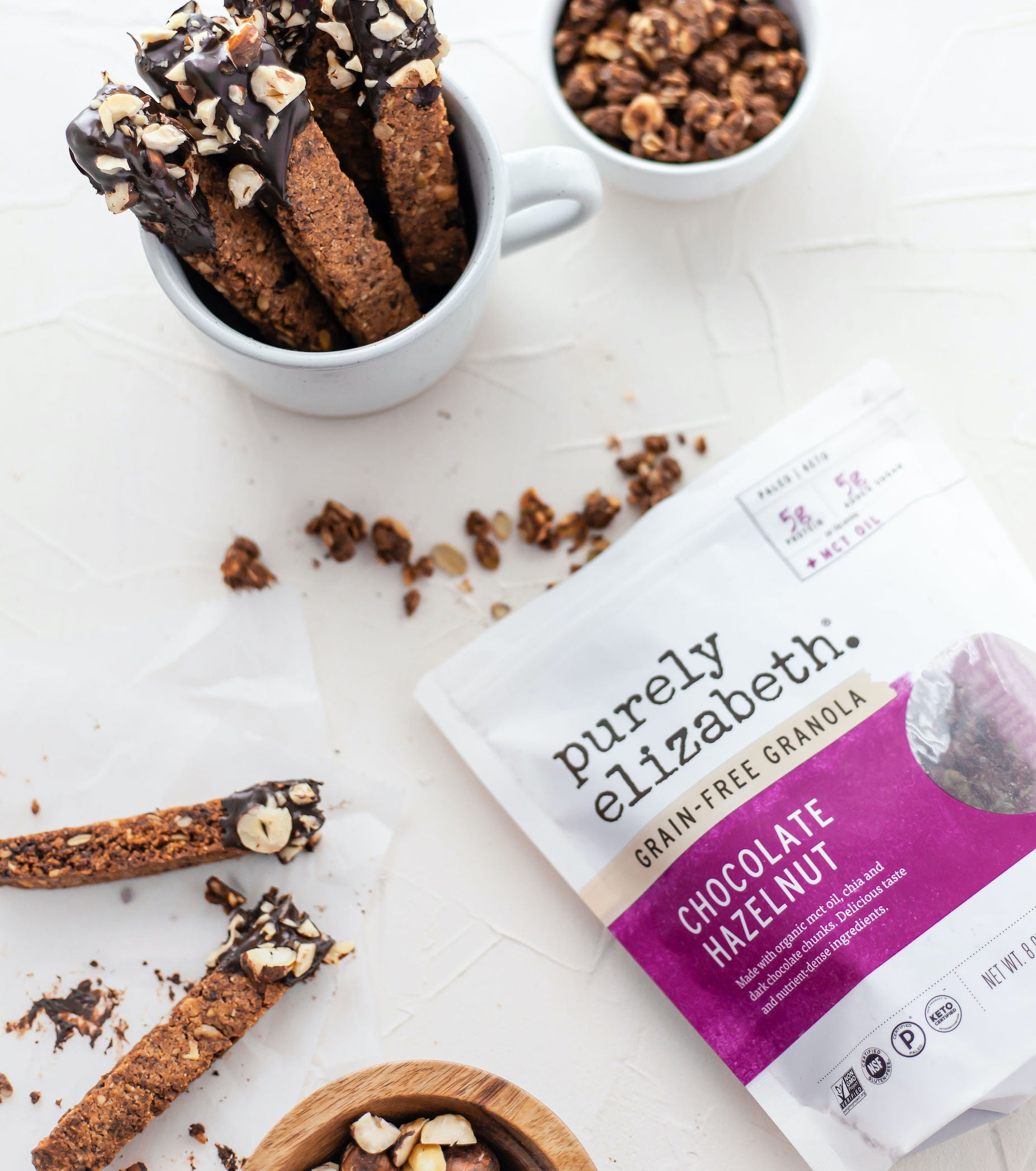 Chocolate Hazelnut Grain-Free Granola + MCT OIL