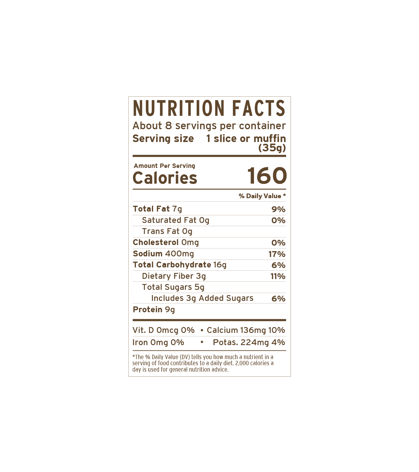 Collagen Bread Mix | nutritional-facts