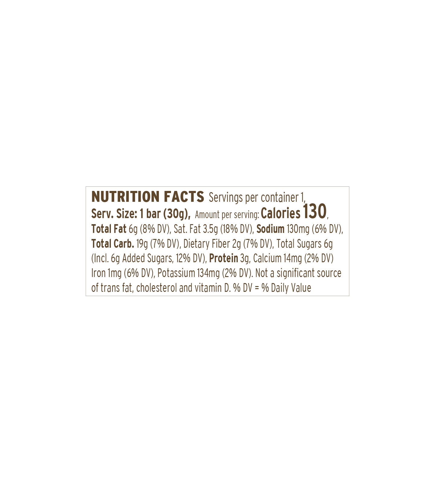 Chocolate SS Bar | nutritional-facts
