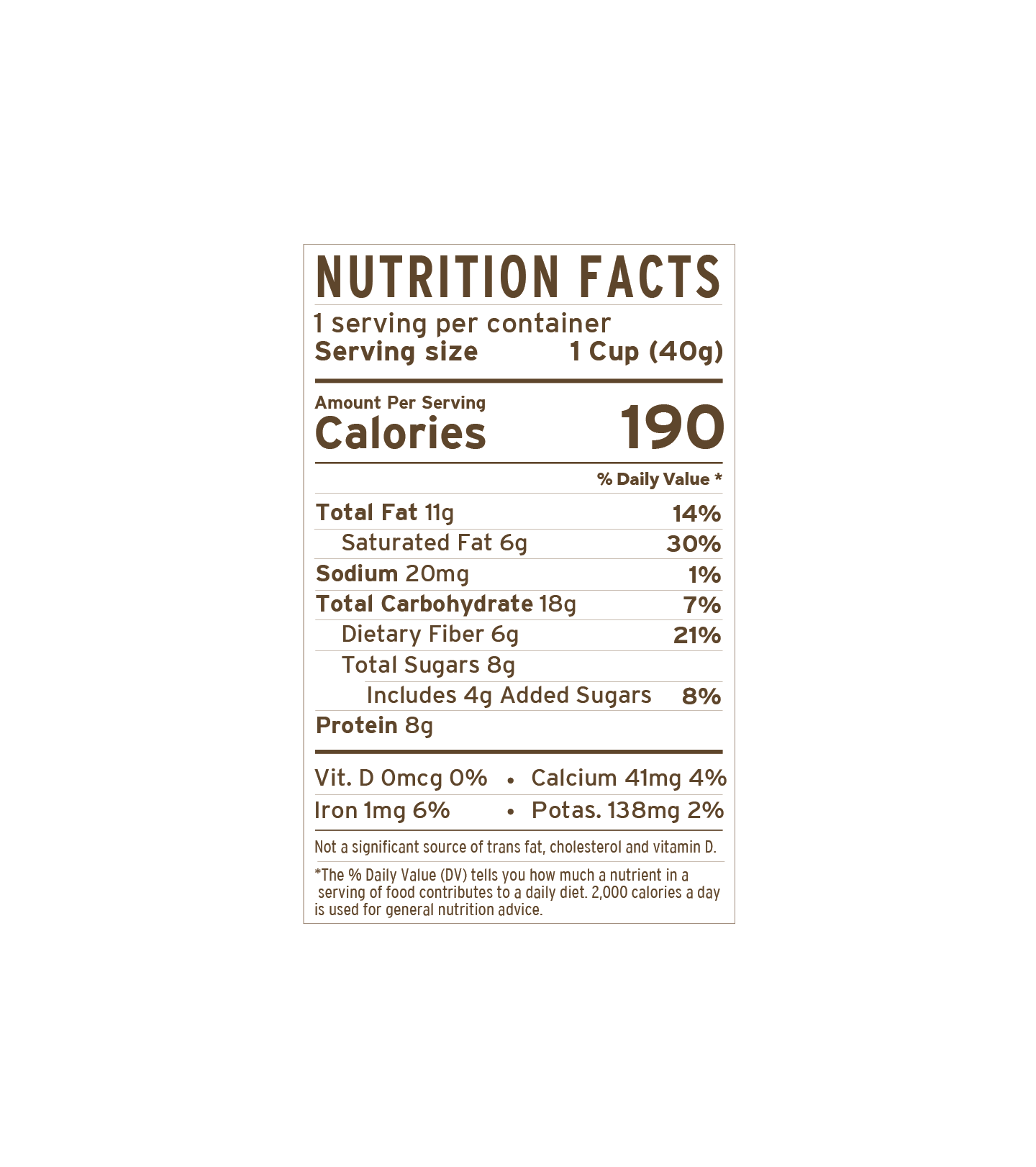 Cinn Cup | nutritional-facts
