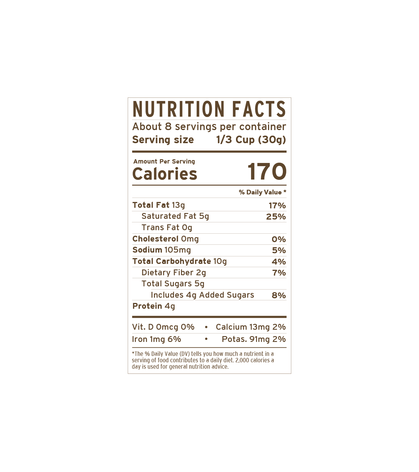 Cinnamon Cashew | nutritional-facts