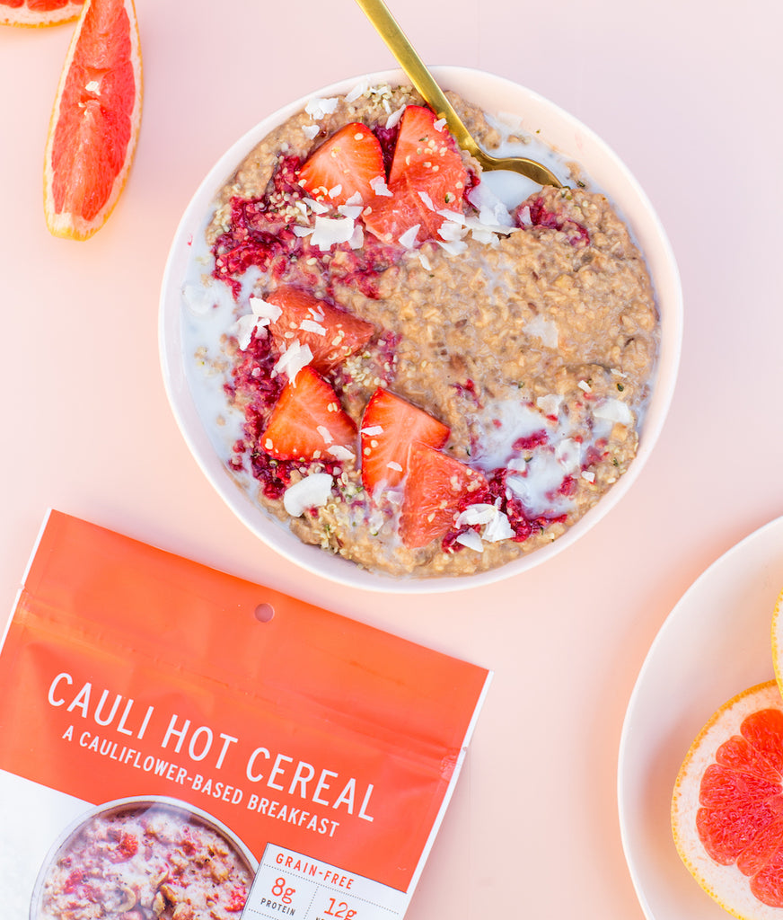 Strawberry Hazelnut Cauli Hot Cereal