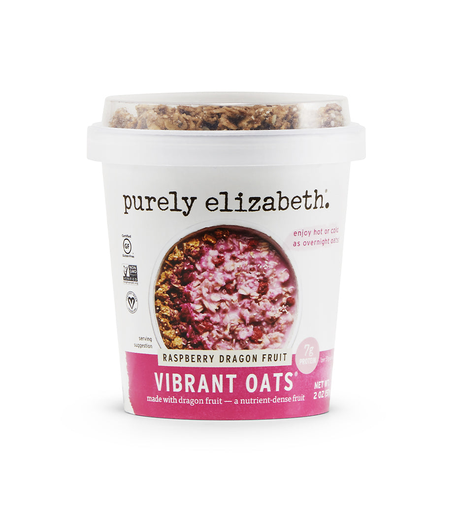 Raspberry Dragon Fruit Vibrant Oat Cups
